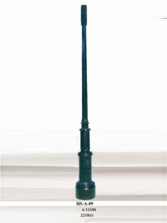 Outdoor street lighting pole ...