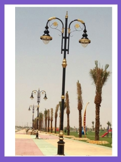 outdoor lamp pole
