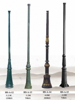 cast iron lamp post ,antique lamp pole ,outdoor lighting